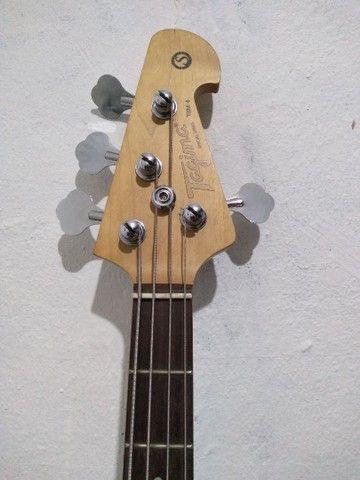 Baixo Tagima TBM 4 ativo modelo music Man troco por violão + volta do interessado