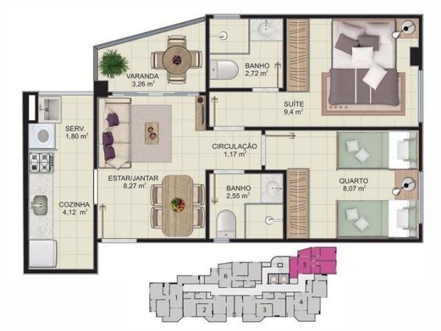 Cobertura para venda em vitória, maruipe, 2 dormitórios, 1 suíte, 2 banheiros, 2 vagas - Foto 16