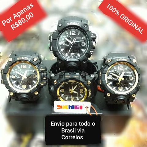 20248f5d9b9 Relógio super resistentes estilo militar