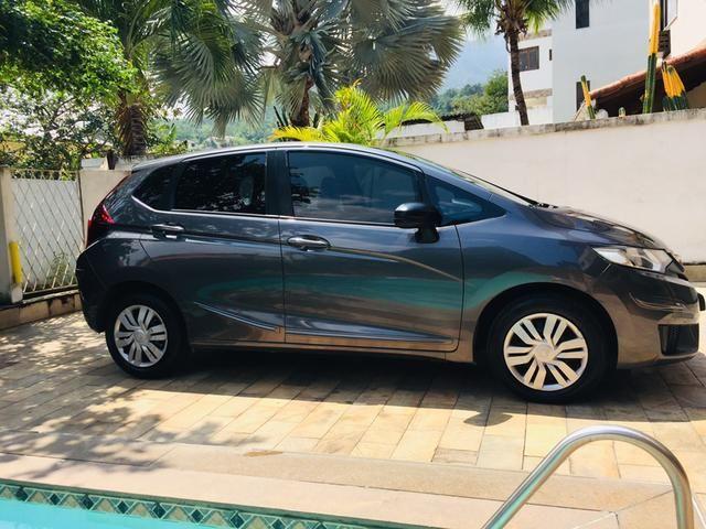 Honda Fit automático com couro e multimedia, ún.dona com 60 mil km!!!! - Foto 6