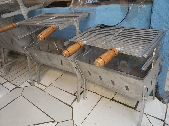 Churrasqueiras de alumínio desmontável reforçada