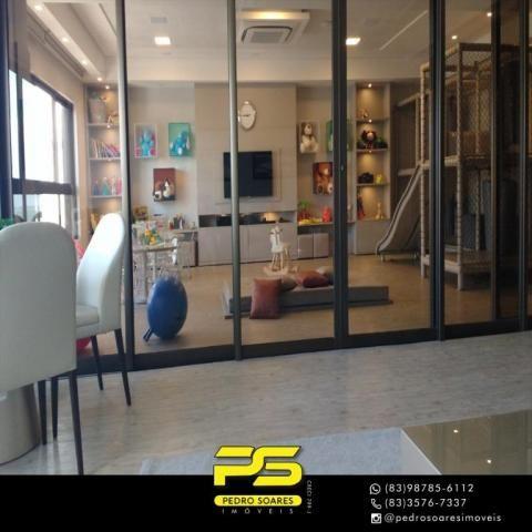 Apartamento com 2 dormitórios para alugar, 60 m² por R$ 3.500,00/mês - Tambaú - João Pesso - Foto 4