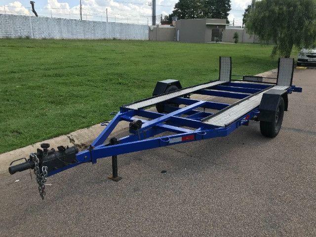 Carretinha reboque para veiculos Capacidade 1300 kg articulável, pneus novos - Foto 5