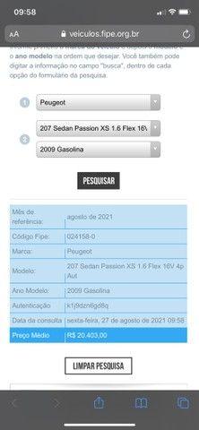 Peugeot 207 passion XS 1.6 automático  - Foto 8