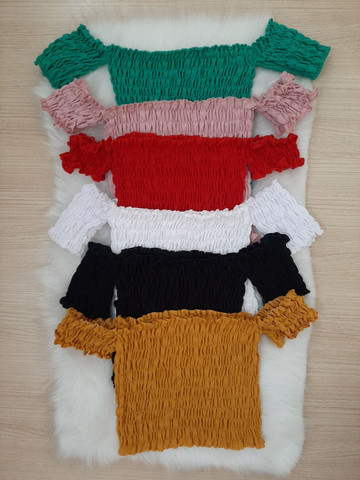 Cropped lastex apenas R$ 35,00. Tamanho único e veste vários tamanhos.  - Foto 3