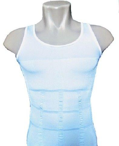 Camiseta Regata masculina diminuir barriga térmica perder peso