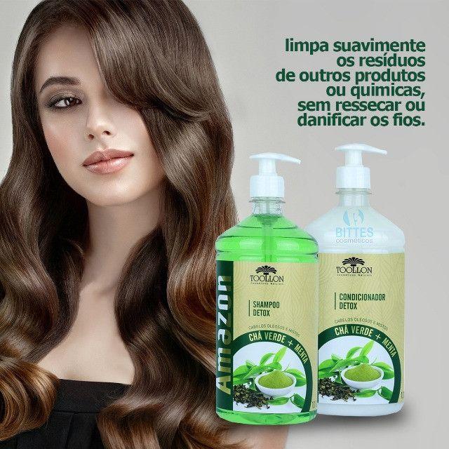 Kit Detox Chá Verde e Menta Para cabelos Oleosos - Foto 2