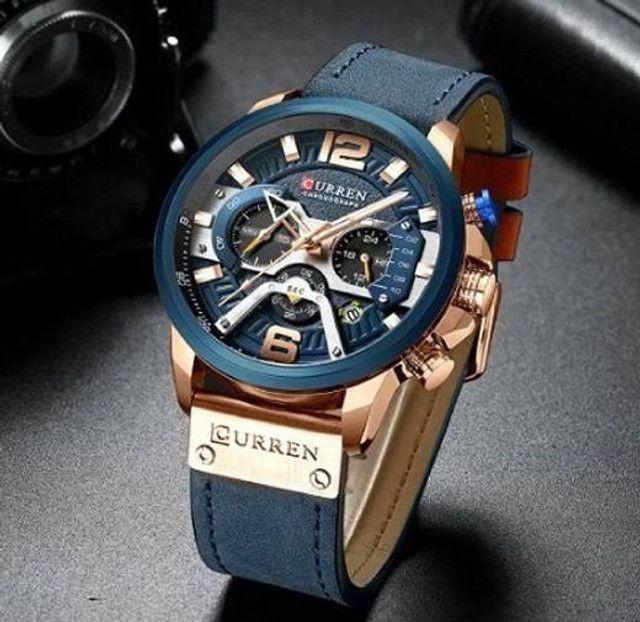 Relógio Curren Azul<br>Luxo - Foto 5
