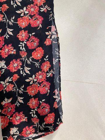 Conjunto Cropped E Pantalona Cintura Alta Florido Bazis - Foto 4