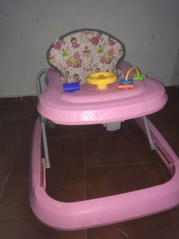 Andador Infantil de Bebê Rosa Tutty Baby - Foto 3