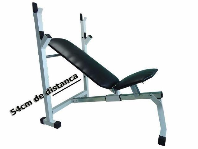 Banco reclinável treino residencial - Esportes e ginástica - Vila ... e53e711166b49