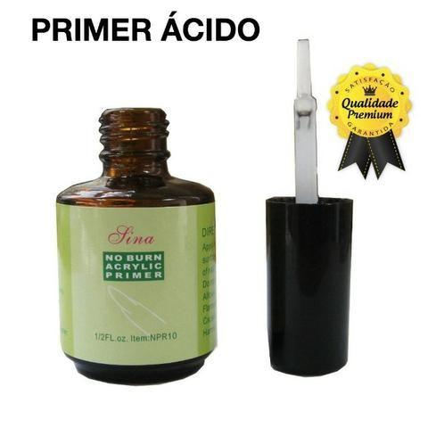 Kit Primer Acido + Primer Gel + Top Coat Lina Unha Acrigel apenas 85,00 no cartao e avista - Foto 2