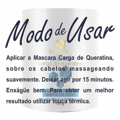 Máscara de Tratamento 500 ml Carga de Queratina no Atacado Hábito Comésticos - Foto 2