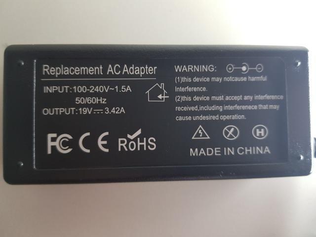 (NOVO) Fonte Carregador Notebook Positivo Cce Toshiba Asus 19v 3,42a - Foto 3