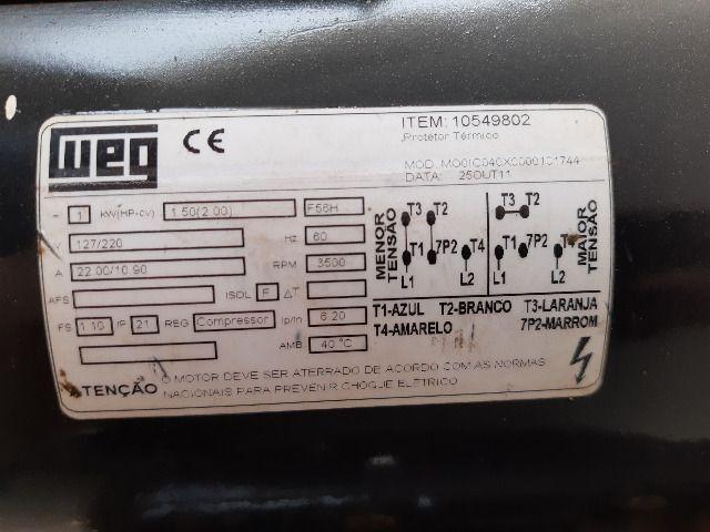 Compressor de ar média pressão 10 pcm 110 litros - Chiaperini 10 MPI 110 L com Motor - Foto 3