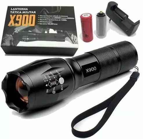 Lanterna x900 recarregável tática militar - Foto 2