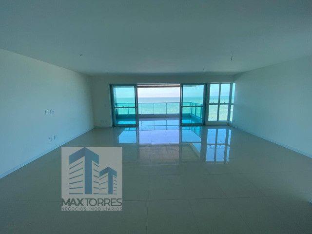 Edifício Green Village: beira mar de Guaxuma, 4 suítes, 222 m², varanda gourmet - Foto 7