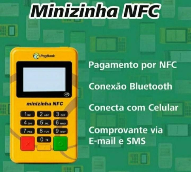 MAQUINA DE CARTÃO COM CHIP (80 REAIS) - Foto 2