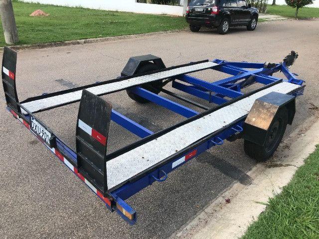 Carretinha reboque para veiculos Capacidade 1300 kg articulável, pneus novos