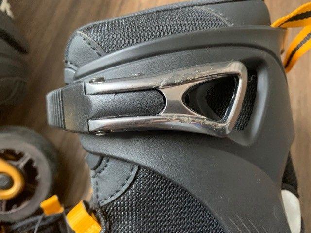Patins Inline F.i.t Boa 84 Alumínio K2 Rollerblades Tam 44 - Foto 4