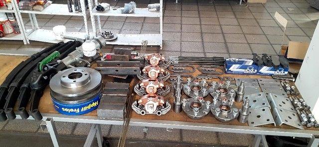 kit para carreta trucada com freio nas 4 rodas  - Foto 3