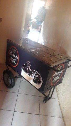 Vendo carrinho de açaí novo - Foto 4