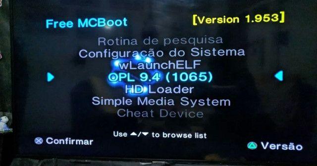 Playstation 2 com HD interno + externo - Foto 5