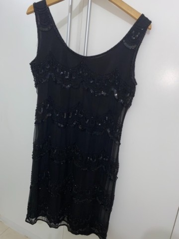 Vestido bordado preto  - Foto 2