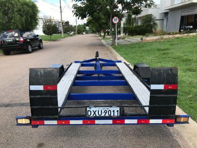 Carretinha reboque para veiculos Capacidade 1300 kg articulável, pneus novos - Foto 4
