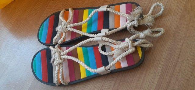 Sandália estilosa feita a mão  - Foto 2