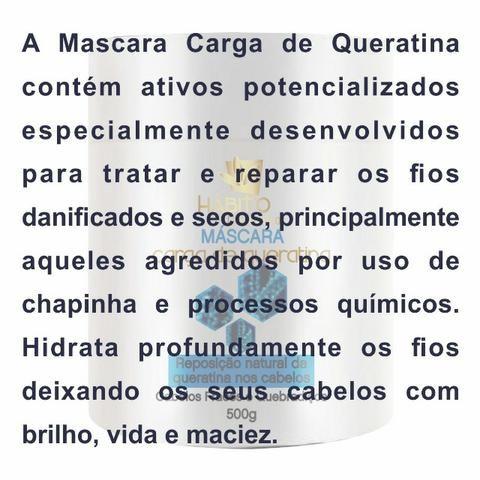 Máscara de Tratamento 500 ml Carga de Queratina no Atacado Hábito Comésticos - Foto 3