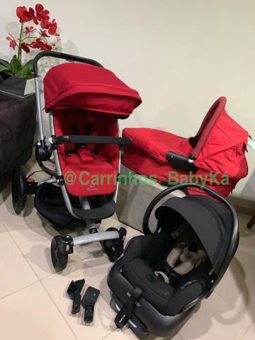 Trio Quinny carrinho Buzz Xtra stroller+Moisés + Bb conforto maxi cosi+base
