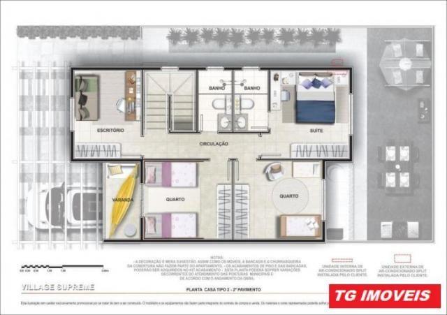 Casa condomínio entrada ate 60 vezes suite 2 vagas de garagem - Foto 17