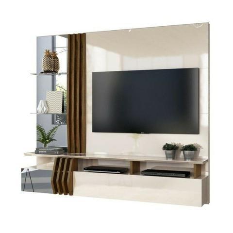"Painel Home Suspenso para TV 55"" Bello 100% MDF - Foto 3"