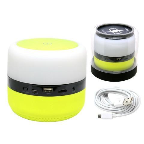 Caixa de Som Bluetooth Led 5w MY-002 Tomate Carregador por Indução Abajur Luminária - Foto 3