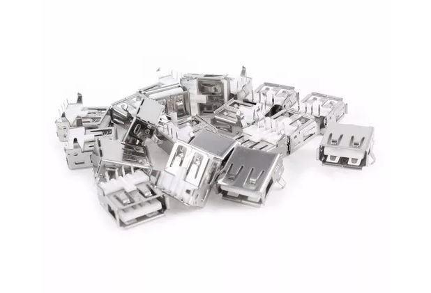 COD-CP36 KIT 3 Unidades Conector Usb Fêmea Tipo A 4 Pinos Dip Arduino Automação Robotica - Foto 3