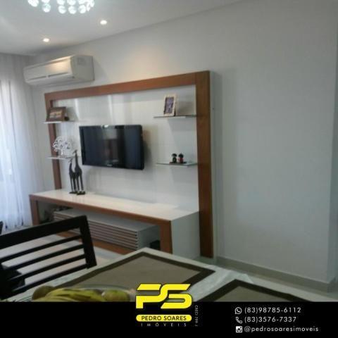 Apartamento com 2 dormitórios para alugar, 60 m² por R$ 3.500,00/mês - Tambaú - João Pesso - Foto 9