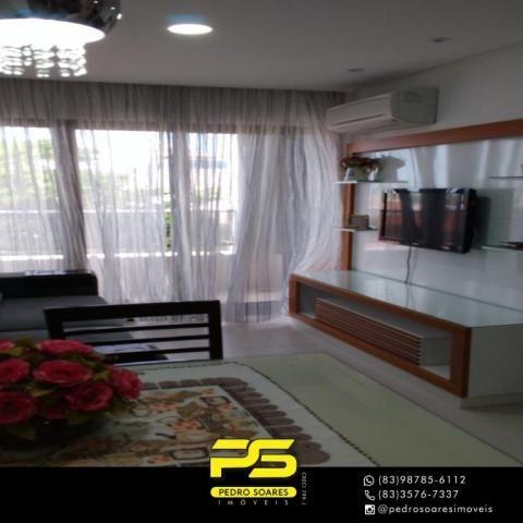 Apartamento com 2 dormitórios para alugar, 60 m² por R$ 3.500,00/mês - Tambaú - João Pesso - Foto 11