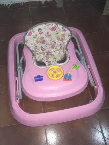 Andador Infantil de Bebê Rosa Tutty Baby - Foto 5