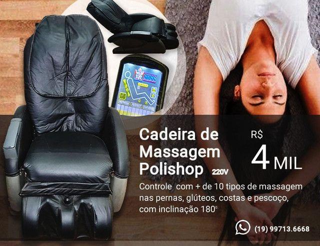 Cadeira de massagem Polishop em excelente estado- Funcionando todas as funções - Foto 4