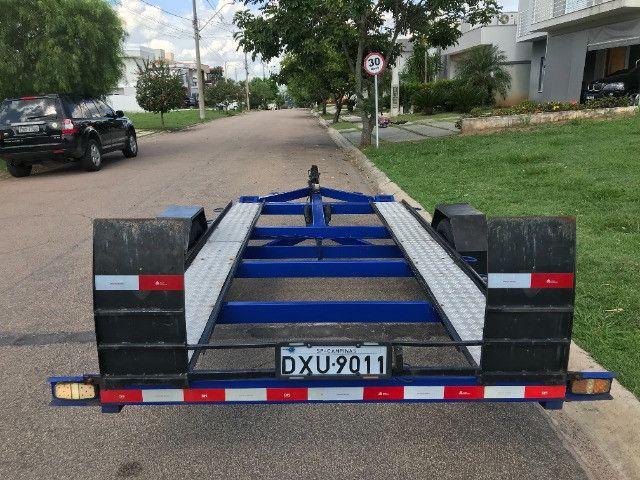 Carretinha reboque para veiculos Capacidade 1300 kg articulável, pneus novos - Foto 6