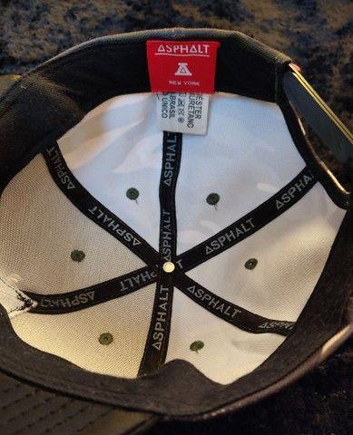 Boné Asphalt Preto e Camuflado Top cada um por R$:20 - Foto 5