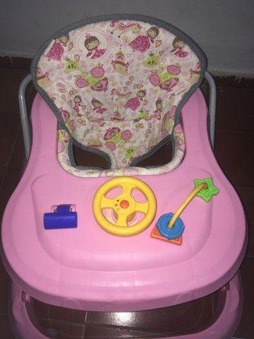 Andador Infantil de Bebê Rosa Tutty Baby - Foto 4