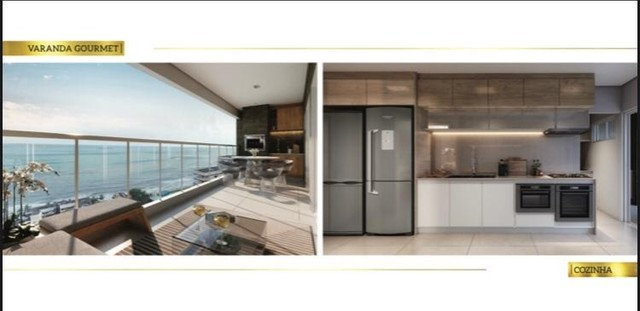 Apartamento á venda com 4 suítes, vista mar, Ponta D'areia