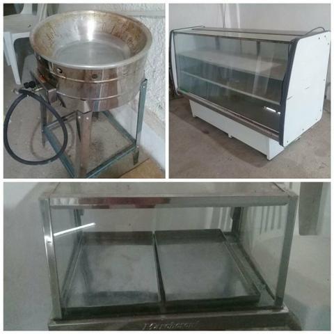 Estufa de salgados + frezer + fritar salgados