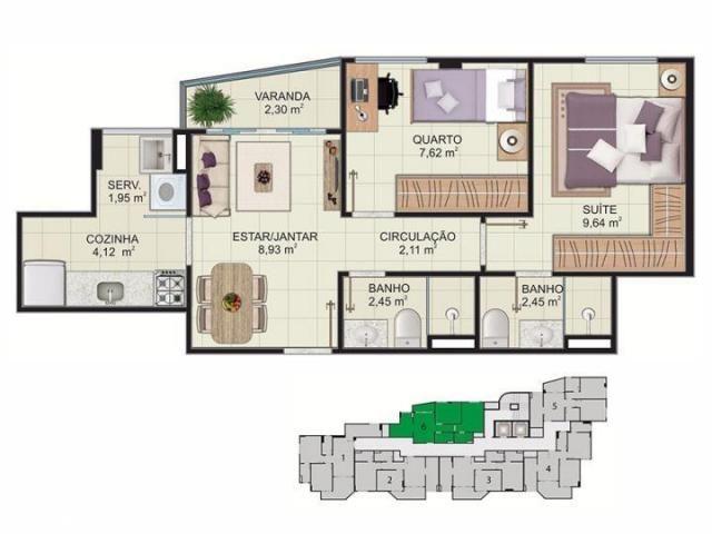 Cobertura para venda em vitória, maruipe, 2 dormitórios, 1 suíte, 2 banheiros, 2 vagas - Foto 17