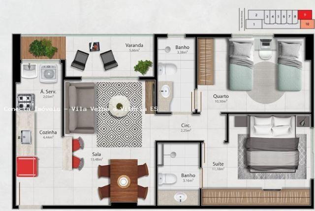 Apartamento para venda em vitória, barro vermelho, 2 dormitórios, 1 suíte, 2 banheiros, 1  - Foto 17