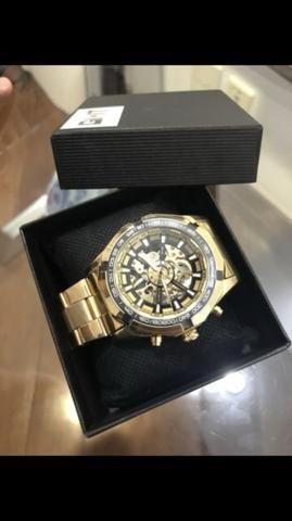 bf3f8aa2919 Relógio de Lux Inox Importado PROMOÇÃO - Bijouterias
