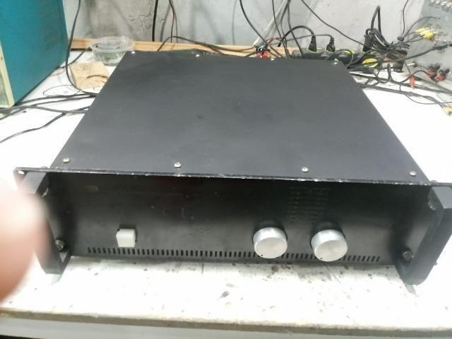 Potência Micrologic M 1000 + pré amplificador montado + rack