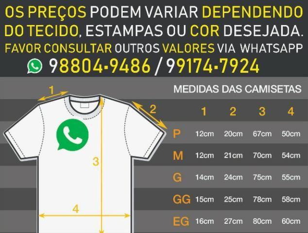 Camisas personalizadas (estampa em serigrafia / silk / sublimação) - Foto 2